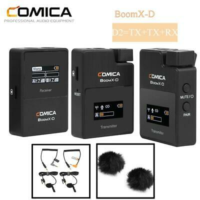 COMICA BoomX-D D2 50M Omnidirectional Wireless Microphone Universal Phone SLR