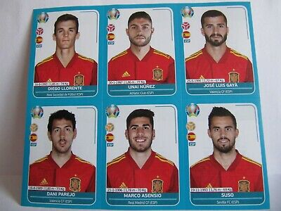 Panini Euro 2020 Preview : Extra Update 12 Stickers Set (Spain)