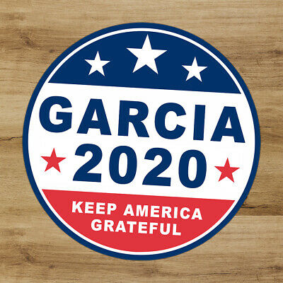 Grateful Dead Deadhead Jerry Garcia 2020 Keep America 4 in premium vinyl sticker