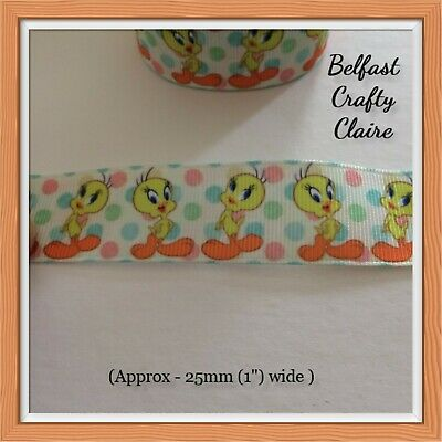 Inside Out Grosgrain Ribbon 25 mm wide Dummy Hair Bows Birthday Cake