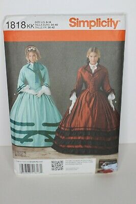 Ladies Historical Costume Size 8-14 UC Simplicity Sewing Pattern 1818 Misses