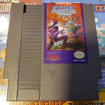 Street Fighter 2010 Nintendo Nes Game Cartridge Tested W Case