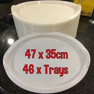 IKEA OVAL PLASTIC TRAYS 47x35cm / 46 PIECES ONLY £1 EACH!!