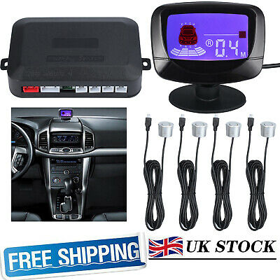PZ500 4 Parking Sensor Car Rear Reverse Reversing LCD Radar Detector System Kit