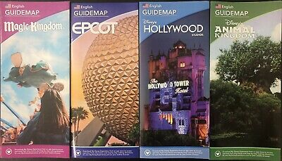 NEW 2020 Walt Disney World Theme Park Guide Maps - 4 Maps Free Shipping + Bonus!
