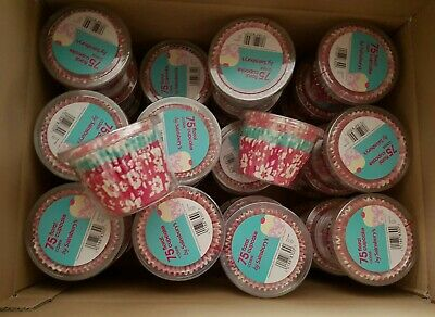 Floral Cupcake Cases.  Box of 36 packs of 75 cases.