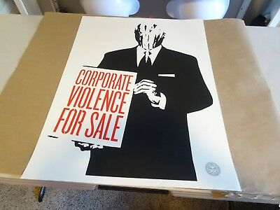 """SEALED Shepard Fairey SIGNED Noise State Violence State Control 7/"""" Record Obey"""
