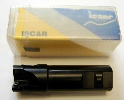 "1 Pc. Iscar E90SP 1.5""4 FLT SPMT 100404R Insert Indexable CNC End Mill Cutter"