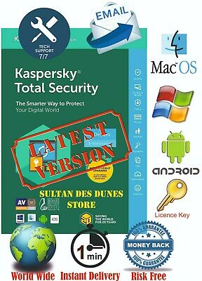 Kaspersky Total Security 1PC✔️1Year  2020✔️Fast Delivery✔️Global