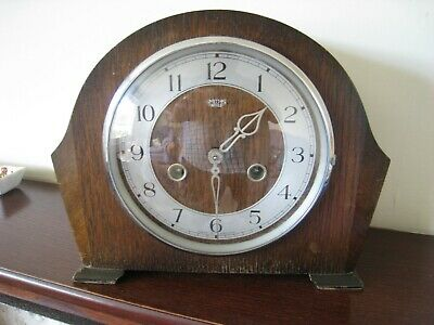 Clock mantle piece Smiths Enfield with key working as clock and chiming