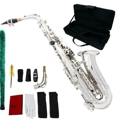Saxophone Professional Sax Eb Be Alto E Flat Brass with Carry Case+Care Kit Z2H8