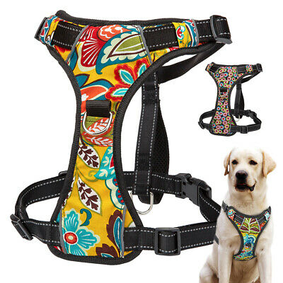 Soft Dog Harness Reflective Pet Car Harness Walk Vest for Small Large Dogs XS-XL