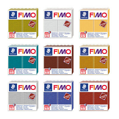Genuine FIMO® Leather-Effect Polymer Modelling Oven Bake Clay 57g * Many Colors