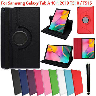 "Case for Samsung Galaxy Tab A 10.1"" 2019 T510/T515 Flip 360 Stand Leather Covers"