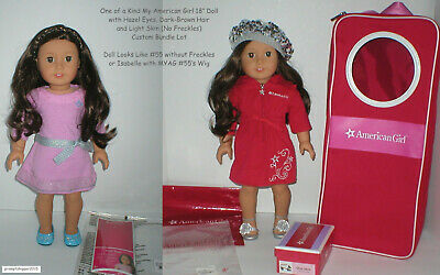"""OOAK My American Girl 18"""" Doll Bundle #55 w/o Freckles or Isabelle with #55 Wig"""