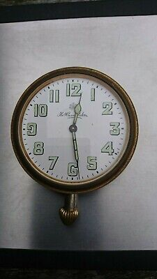 Thos. Russell and Son Edwardian Travel Clock. Spares or Repair.