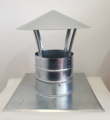 Chimney cap kit, Chimney top plate kit, Chimney cover Ø 200mm