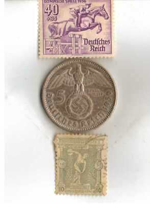 #-2-)-*Greece-1896-Olympic+1936-*German Olympic stamps and SILVER(.900%) coin