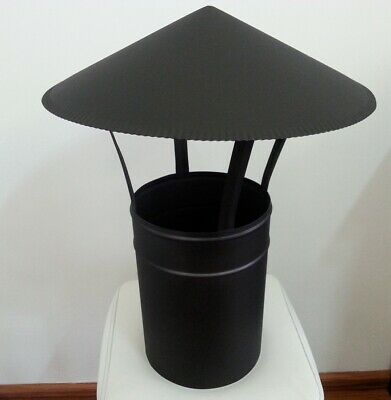 Chimney cap, Rain cap, Chimney cover, Rain cover 180mm, Black