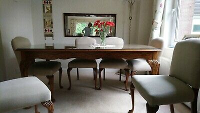 1950 S Solid Walnut Dining Table And 6 Chairs 250 00 Picclick Uk