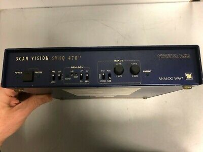 ANALOG WAY SCAN VISION VHX 470 INTERFACE GENLOCK Multiples Salidas y entradas.