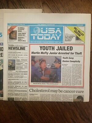 Back To The Future 2 / USA TODAY October 22 2015 Newspaper Complete /UNREAD
