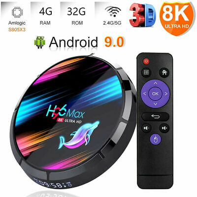 2020 H96 MAX X3 4GB+32GB Android 9.0 TV Box Smart Amlogic S905X3 Dual WIFI BT UK