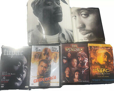 Lot Of Tupac, 2Pac, Makaveli Items (Books, DVDs, A Sealed CD And A Calendar)