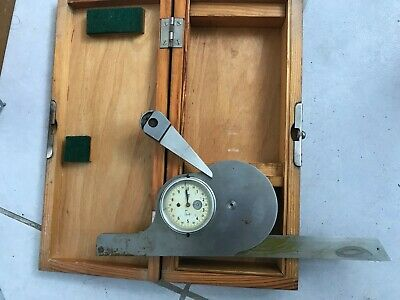 NEW USSR bevel protractor 150mm with wooden box