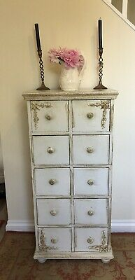 Vintage Chest of Drawers Shabby Chic French Louis Chateau Chest of 10 Drawers