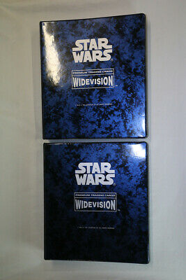 Topps STAR WARS, ESB, ROTJ, Widevision 480 cards, 4 sets in two albums - 1994