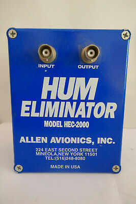 Allen Avionics HEC-2000 Hum Elliminator for Broadcast Applications