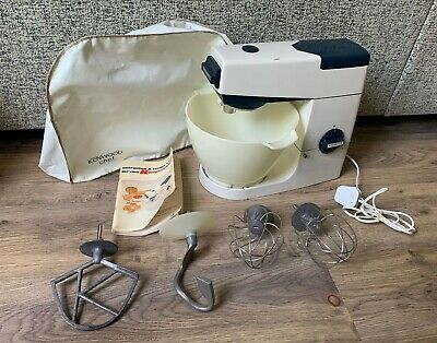 Kenwood Chef Food Mixer A701a- 4 Attachments- Tested & Working- Navy Blue