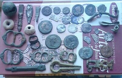 metal detecting finds includes Roman and Hammered coins a good honest mix