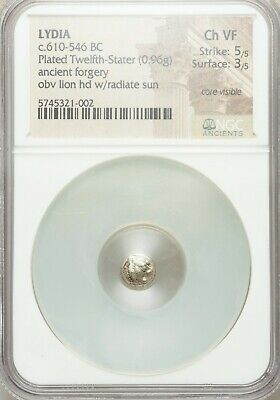 WORLDS OLDEST COIN LYDIA Alyattes Croesus 610-546 BC Ancient Forgery 1/12 stater
