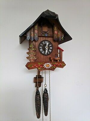 Chalet style wooden cuckoo clock