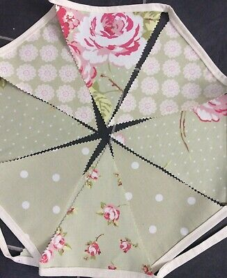 Clarke & Clarke Various Designs Fabric Bunting BUY 3MTRS GET 1Mtr FREE ! Garden