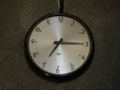 Vintage Industrial Double Sided Factory Gents Of Leicester Clock 12in face