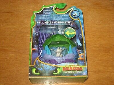 NEW! How to Train Your Dragon Hidden World light up Playset Light Fury