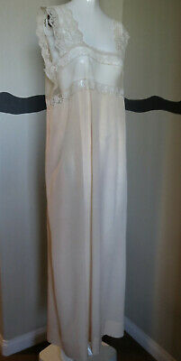 1920s Nightgown Silk & Lace Baby Pink