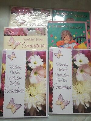 6new Unsold Shop Stock Grandma Birthday Cards