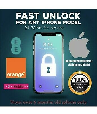 EE, Express Unlocking service iPhone 7,8,8+X, XR, XS ,XS MAX 11 Pro T-MOBILE,UK
