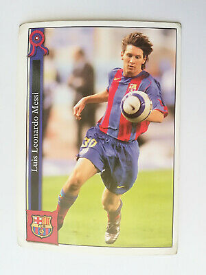 Card Messi F.c.barcelona 2005 2006 Rookie  2° Year Mundicromo