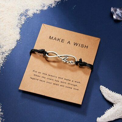Fashion Inifity 8 LOVE Wish Bracelet Rope Bangle Friendship Family Lover Jewelry