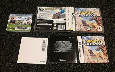 SimCity Creator - Nintendo DS, 2008 - Box and Manual ONLY