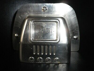 Vintage metal chocolate mold , 2 sided early t.v. set .