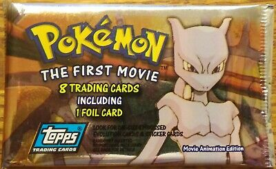 """Pokemon Sealed Pack (8 cards)  """"THE FIRST MOVIE"""" Topps Trading Cards - NM/M"""