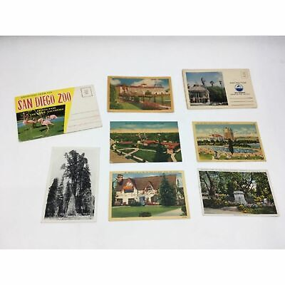 Vintage Post Card Lot Real Photo Linen San Diego Zoo Seaworld California