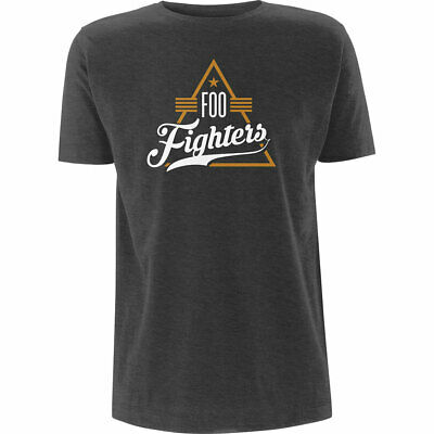 Grey Foo Fighters Triangle Official Tee T-Shirt Mens Unisex