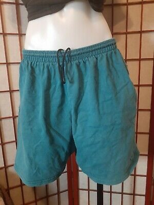 Vintage 1990s NIKE  Embroidered Cotton Shorts Mens Large Green/ Teal